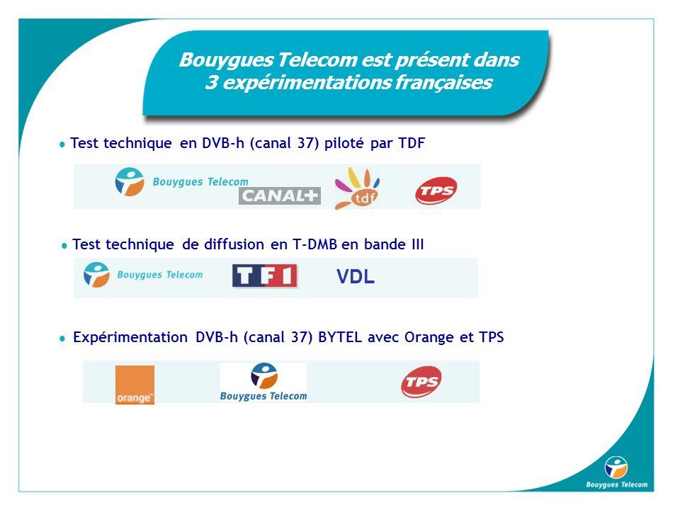 Bouygues Telecom est présent dans 3 expérimentations françaises