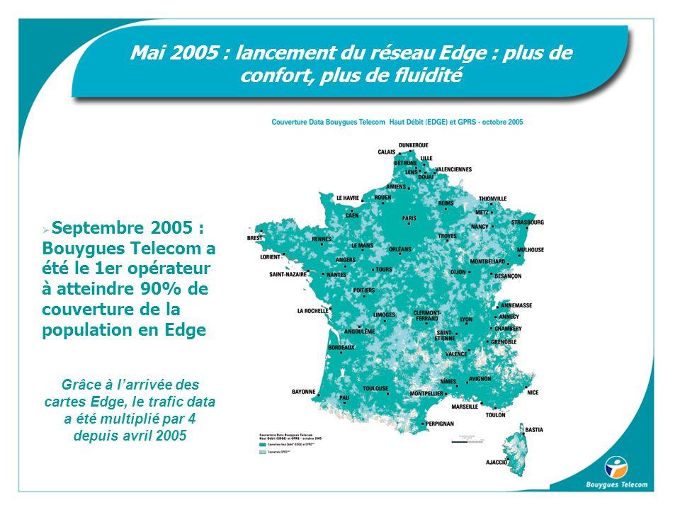 Mai 2005 : lancement du réseau Edge : plus de confort, plus de fluidité