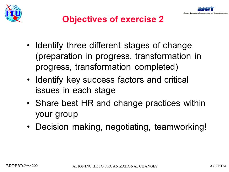 Objectives of exercise 2