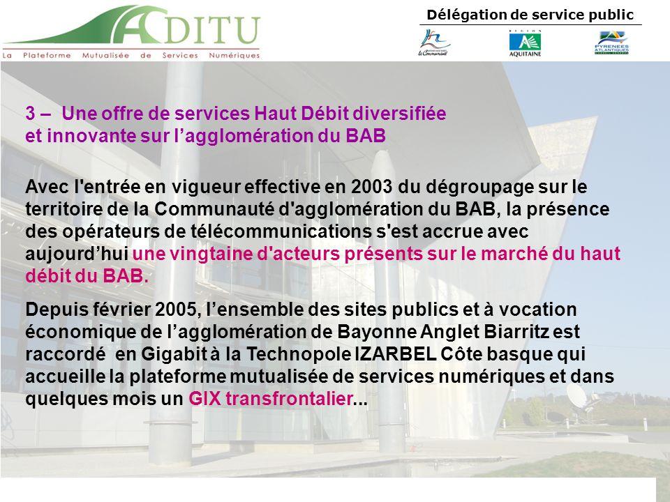3 – Une offre de services Haut Débit diversifiée
