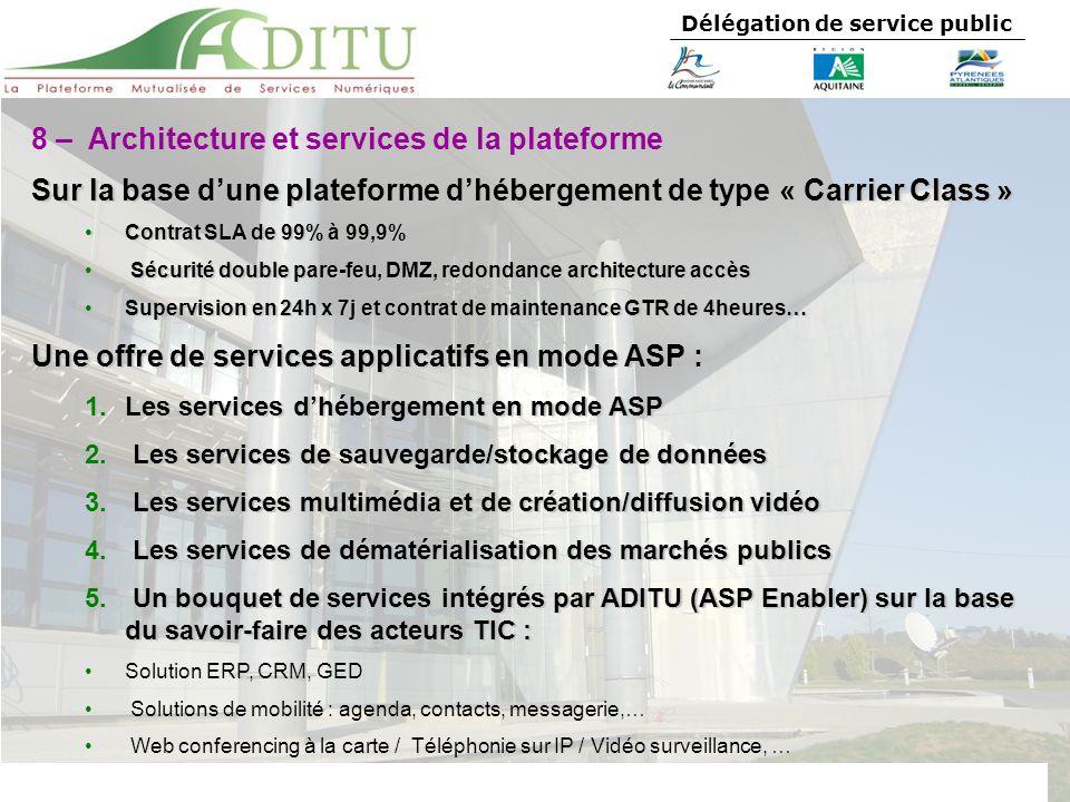 8 – Architecture et services de la plateforme