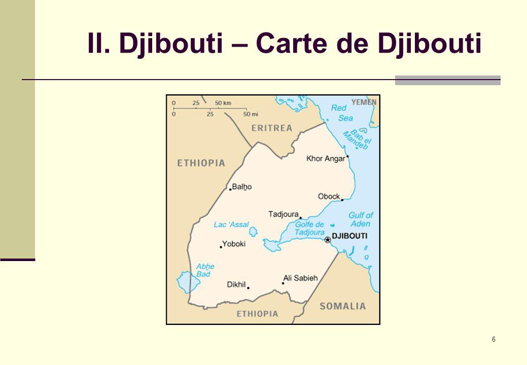 II. Djibouti – Carte de Djibouti