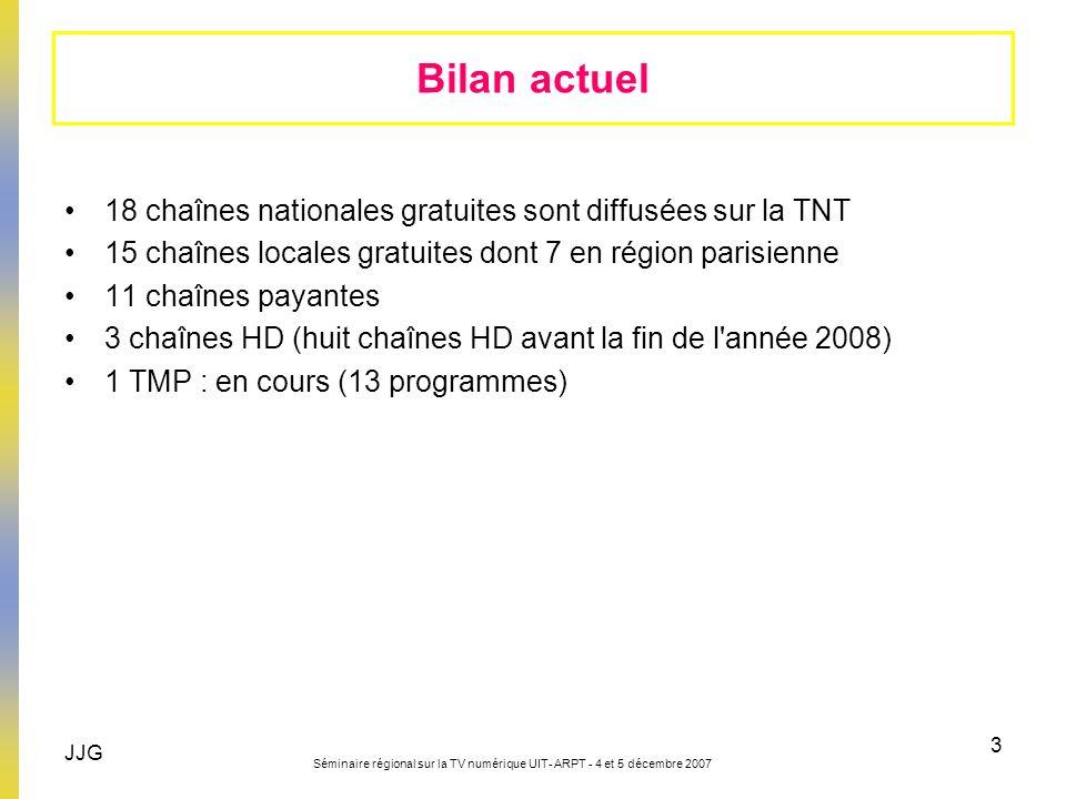 Bilan actuel 18 chaînes nationales gratuites sont diffusées sur la TNT