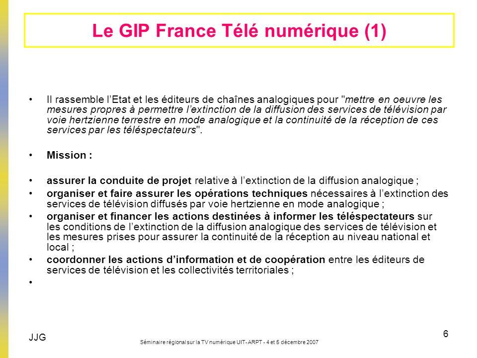 Le GIP France Télé numérique (1)