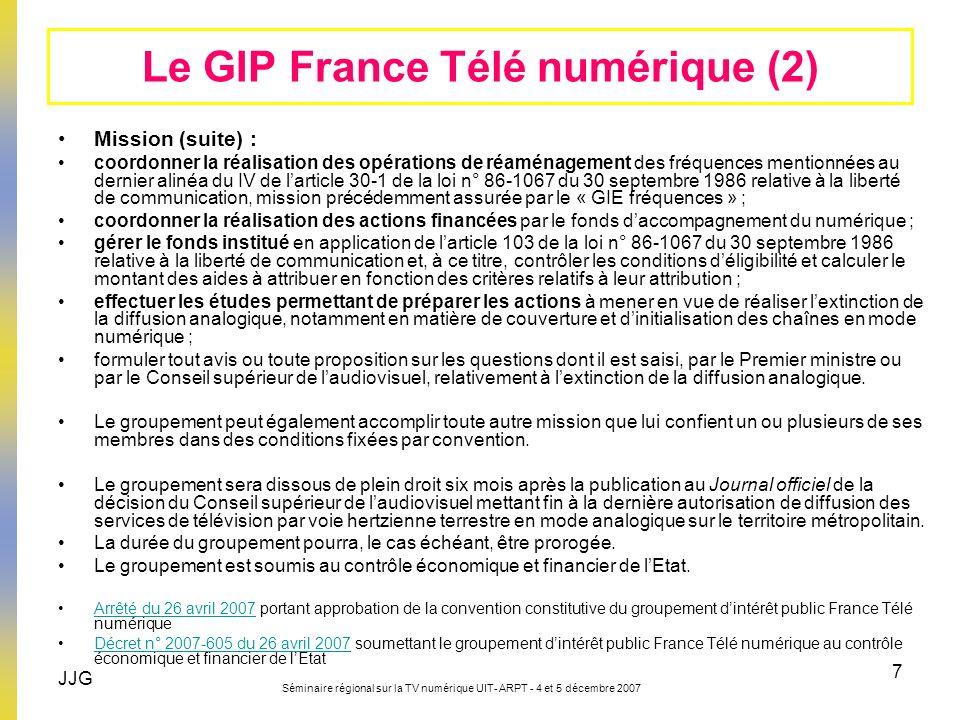 Le GIP France Télé numérique (2)