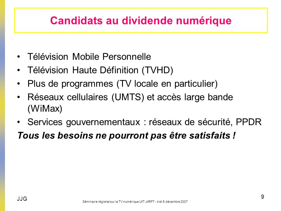 Candidats au dividende numérique