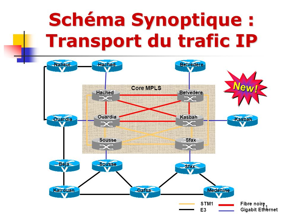Schéma Synoptique : Transport du trafic IP