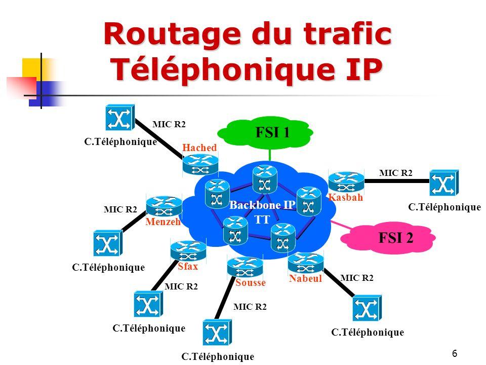 Routage du trafic Téléphonique IP