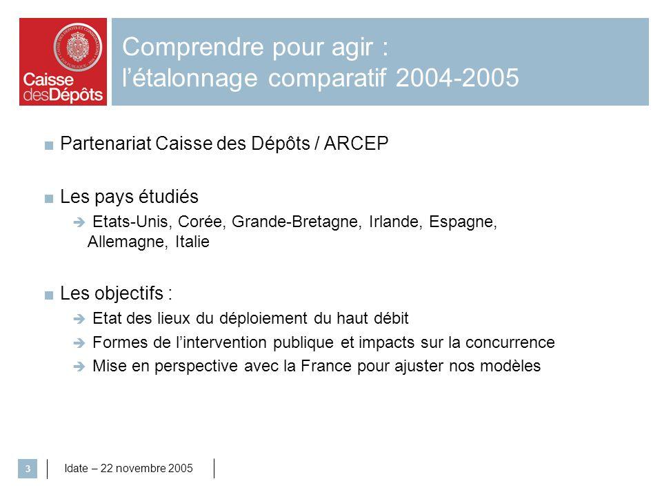Comprendre pour agir : l'étalonnage comparatif 2004-2005