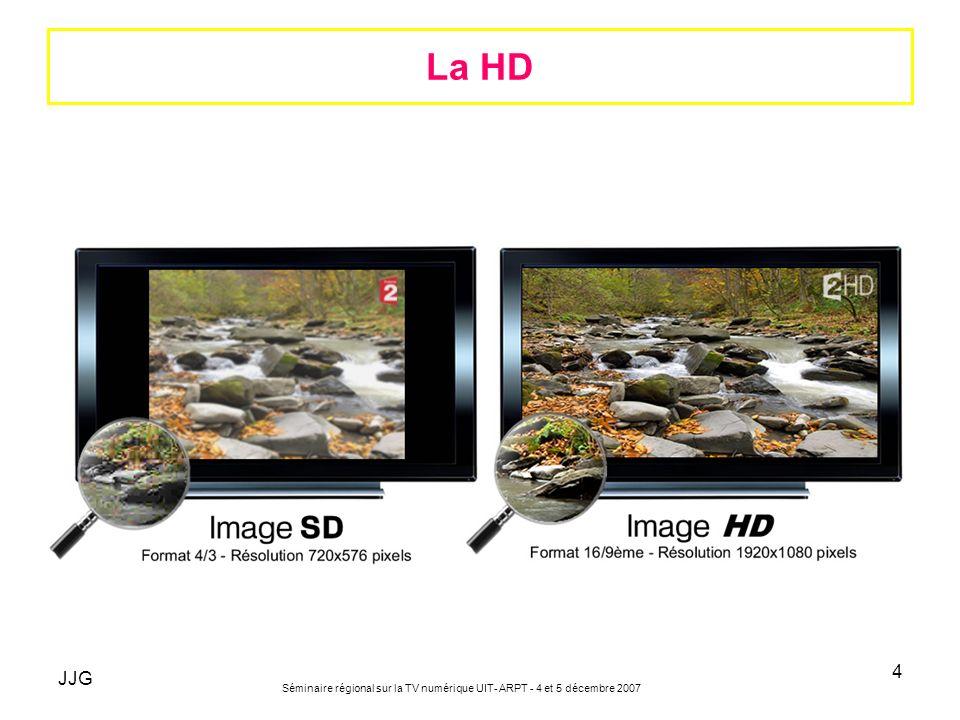 La HD JJG Séminaire régional sur la TV numérique UIT- ARPT - 4 et 5 décembre 2007