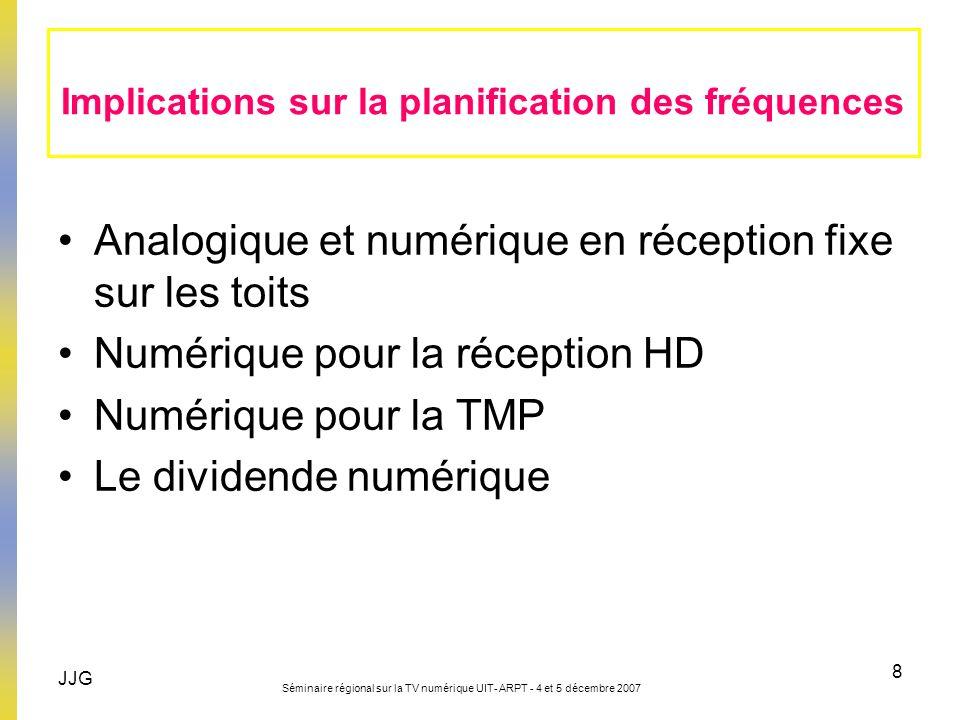 Implications sur la planification des fréquences