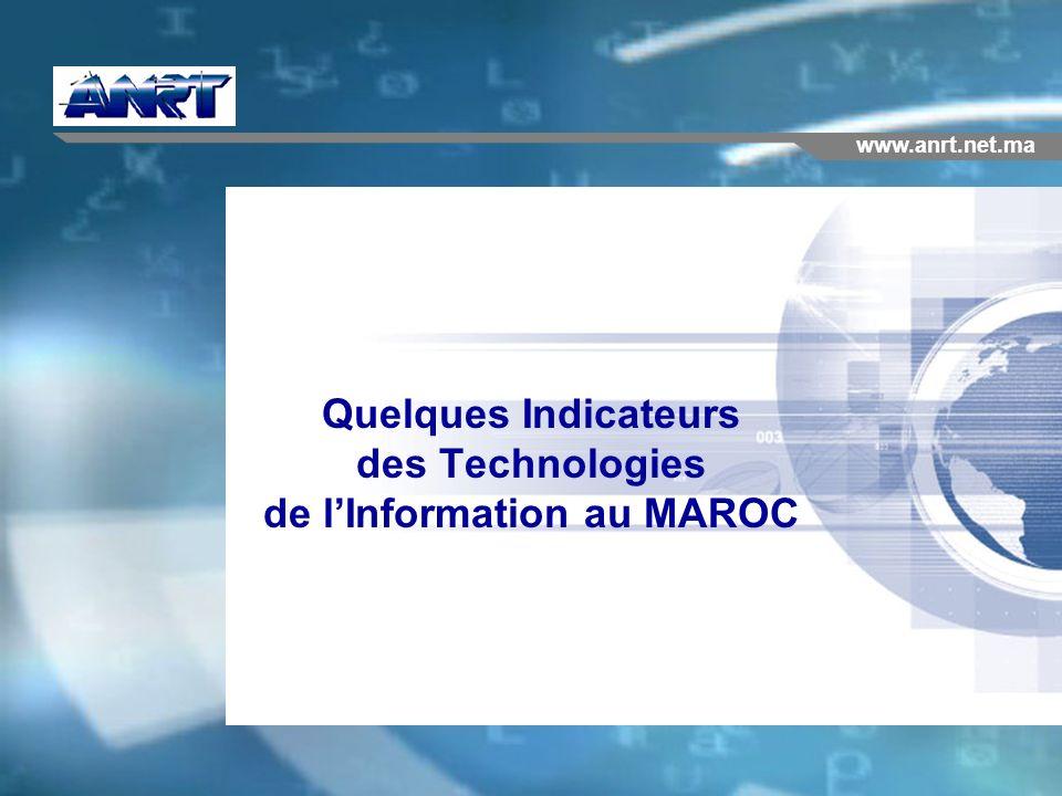 Quelques Indicateurs des Technologies de l'Information au MAROC