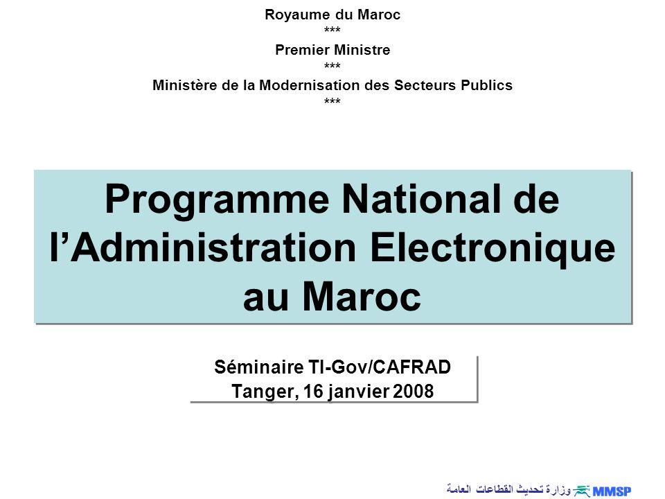 Programme National de l'Administration Electronique au Maroc