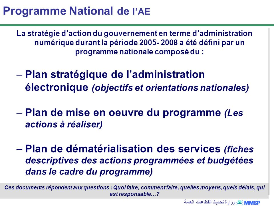 Programme National de l'AE