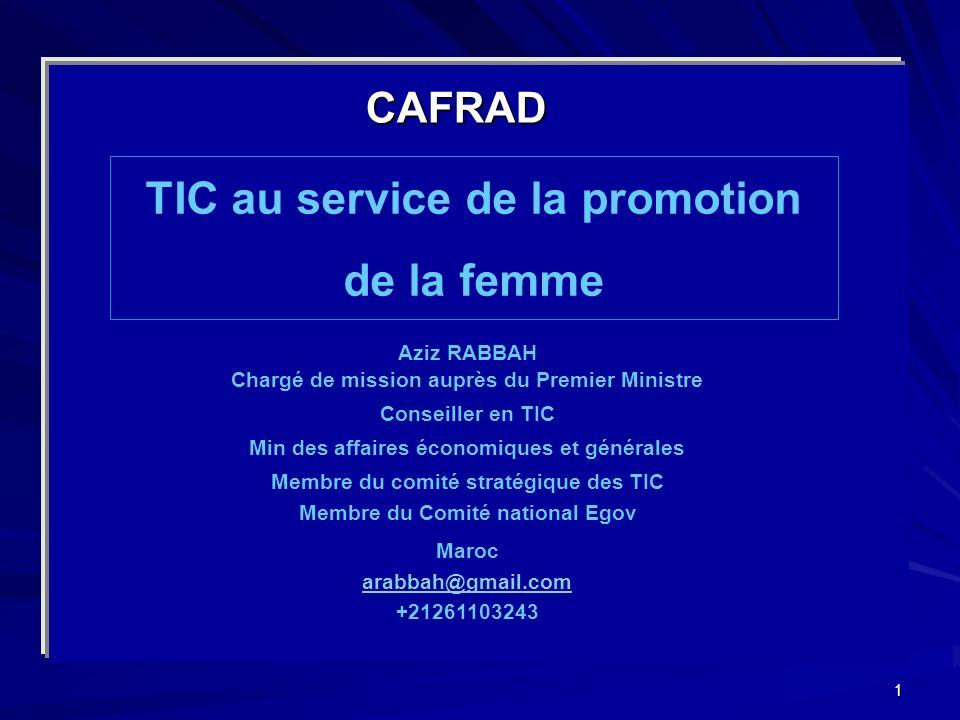 TIC au service de la promotion de la femme