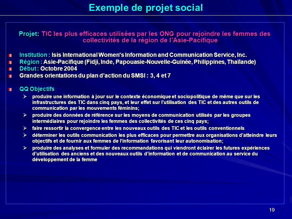 Exemple de projet social