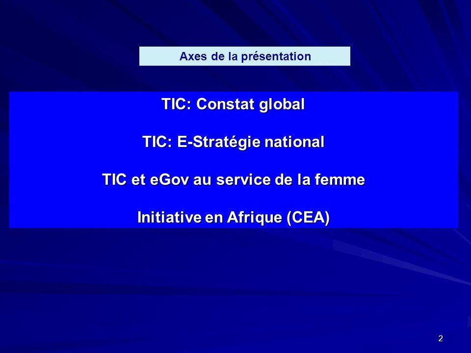 TIC: E-Stratégie national TIC et eGov au service de la femme