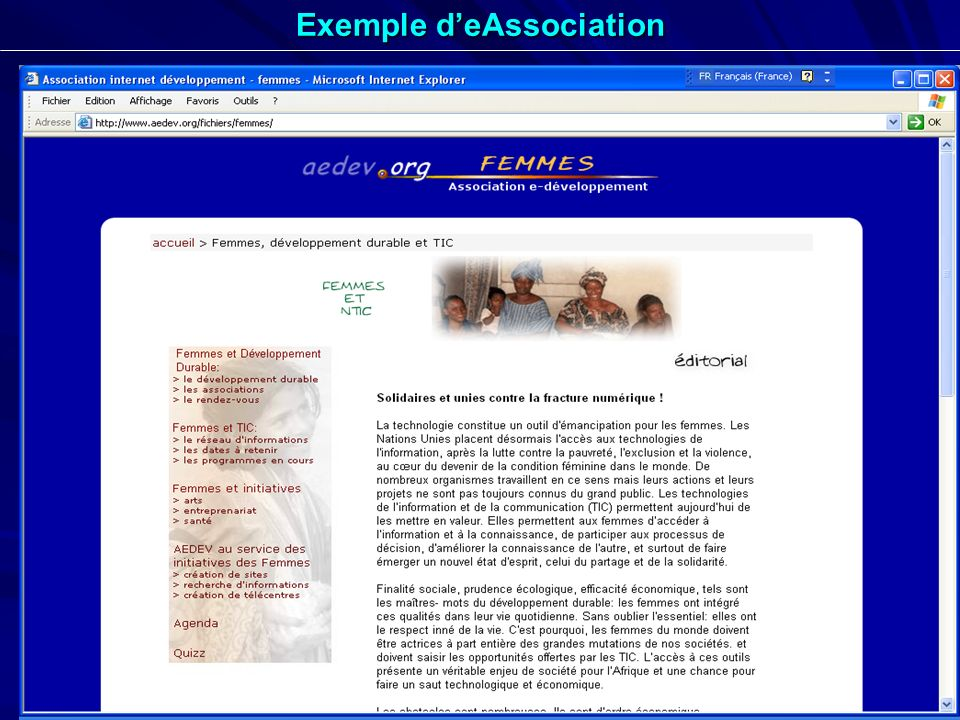 Exemple d'eAssociation