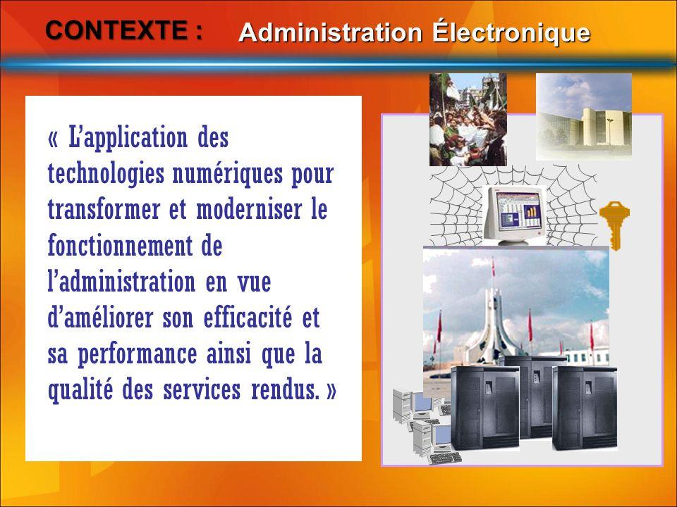 Contexte : Administration Électronique.