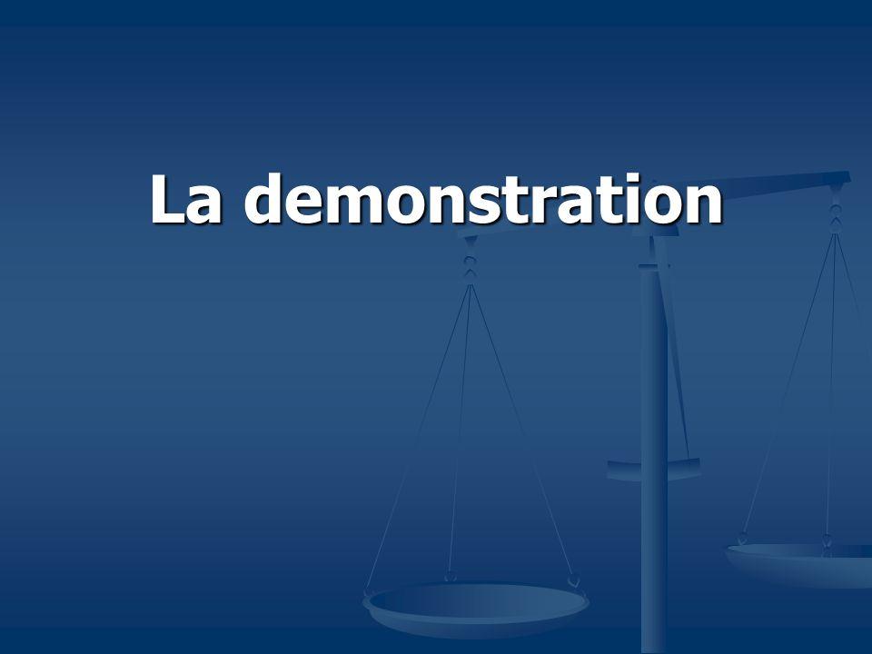 La demonstration