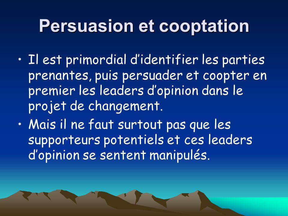 Persuasion et cooptation