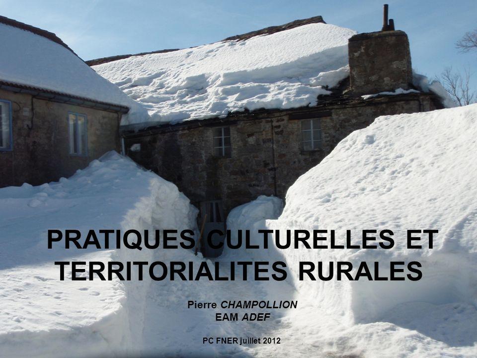PRATIQUES CULTURELLES ET TERRITORIALITES RURALES