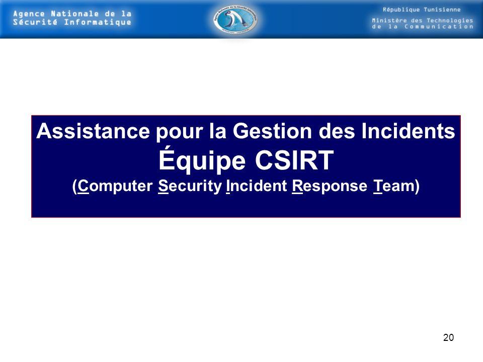 Équipe CSIRT Assistance pour la Gestion des Incidents