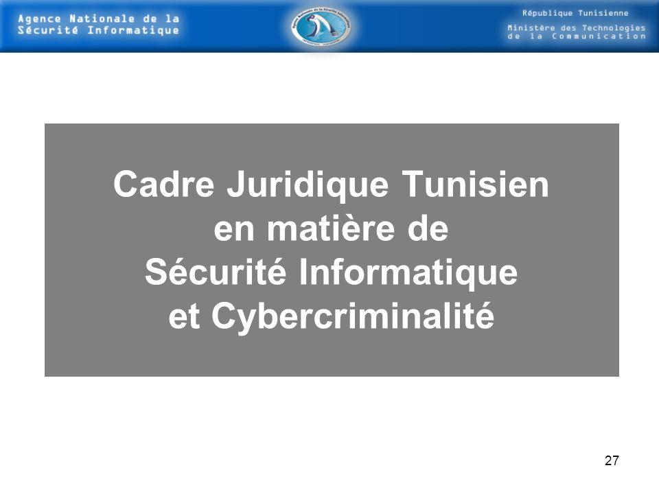 Cadre Juridique Tunisien Sécurité Informatique