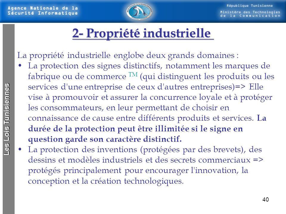 2- Propriété industrielle