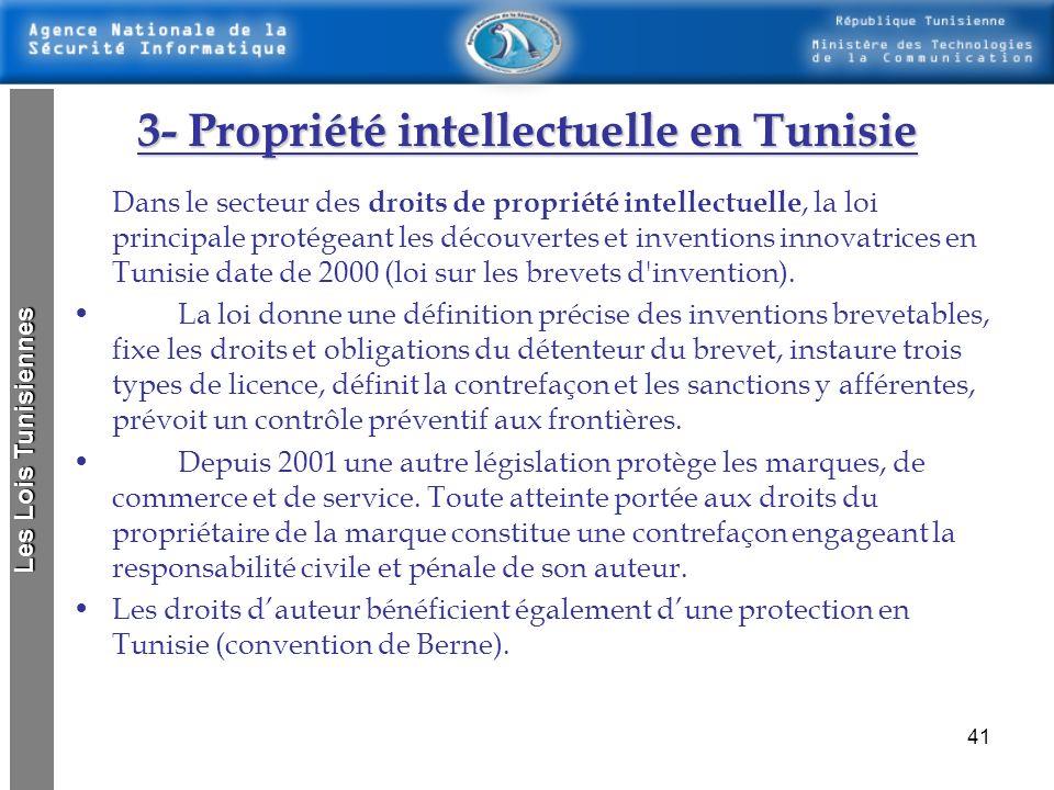3- Propriété intellectuelle en Tunisie