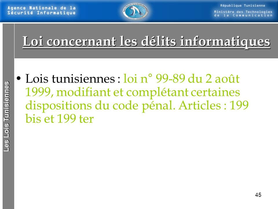 Loi concernant les délits informatiques