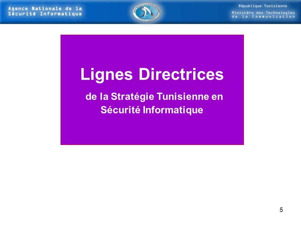 Lignes Directrices de la Stratégie Tunisienne en Sécurité Informatique