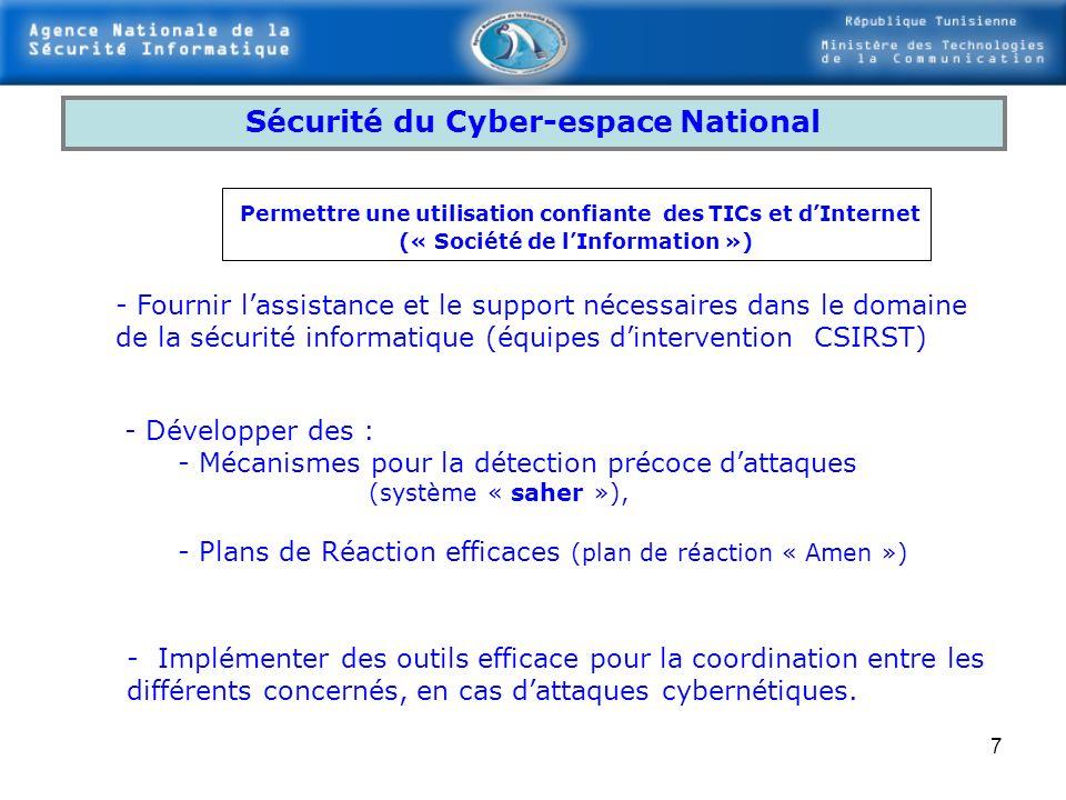 Sécurité du Cyber-espace National (« Société de l'Information »)