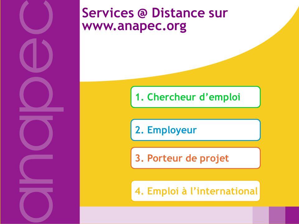 Services @ Distance sur www.anapec.org