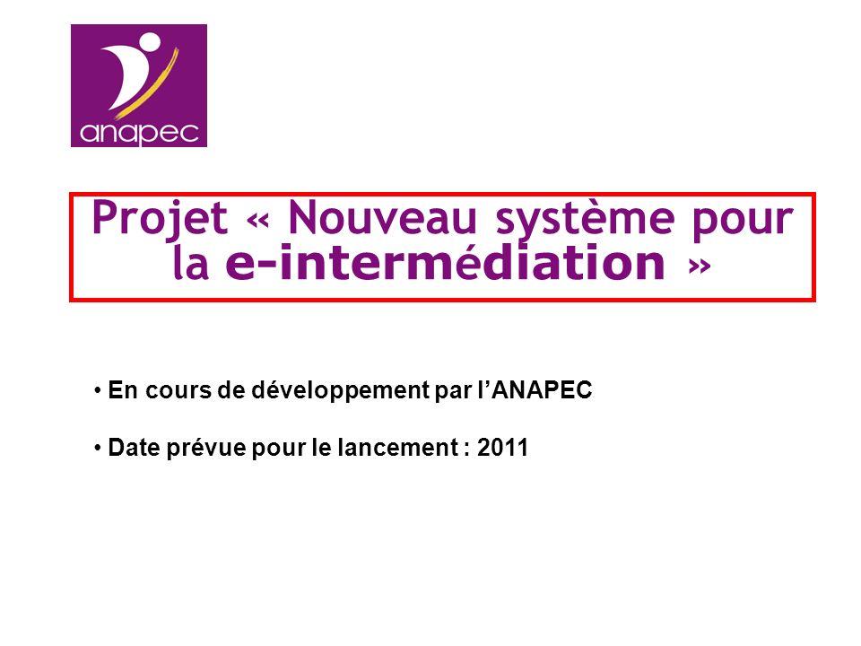 Projet « Nouveau système pour la e-intermédiation »