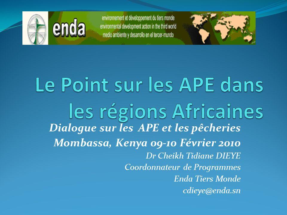 Le Point sur les APE dans les régions Africaines