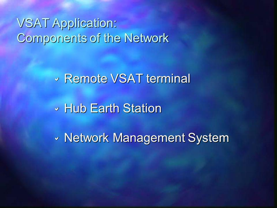 VSAT Application: Components of the Network