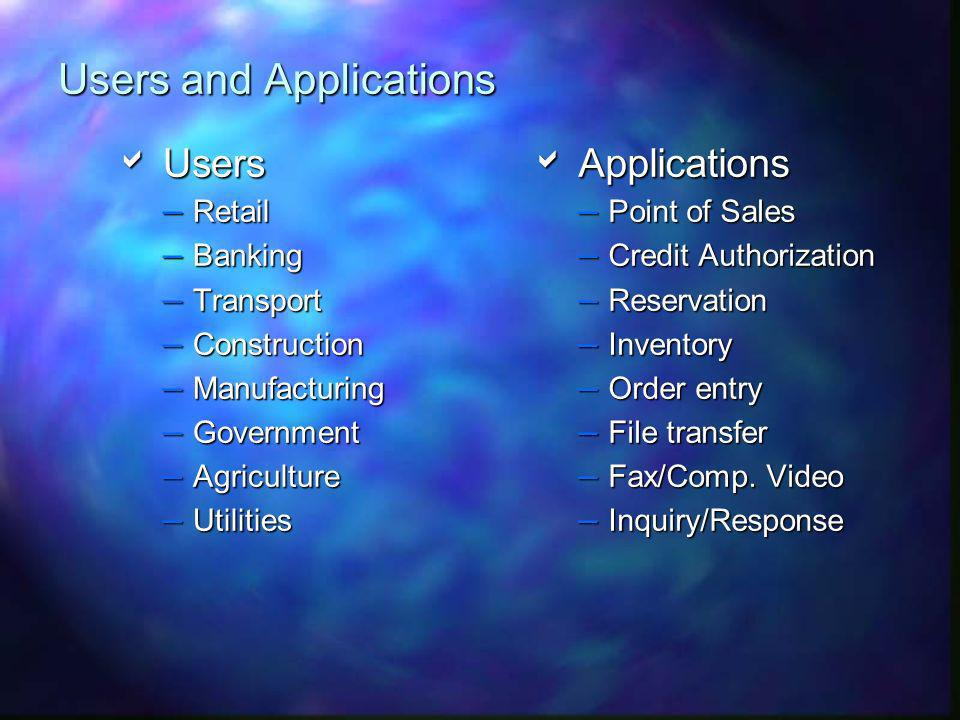 Users and Applications