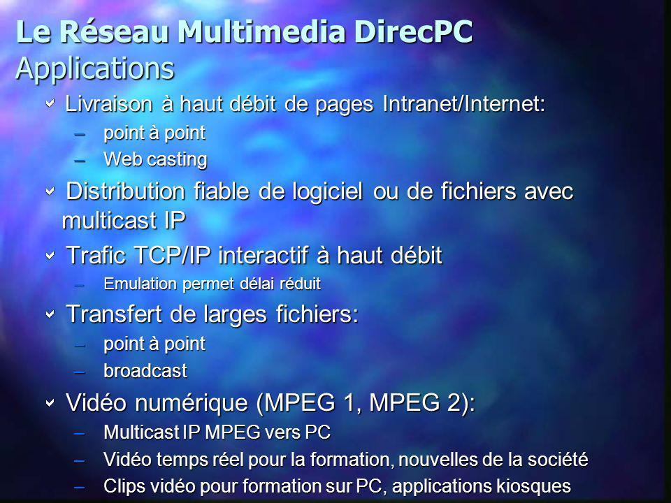 Le Réseau Multimedia DirecPC Applications