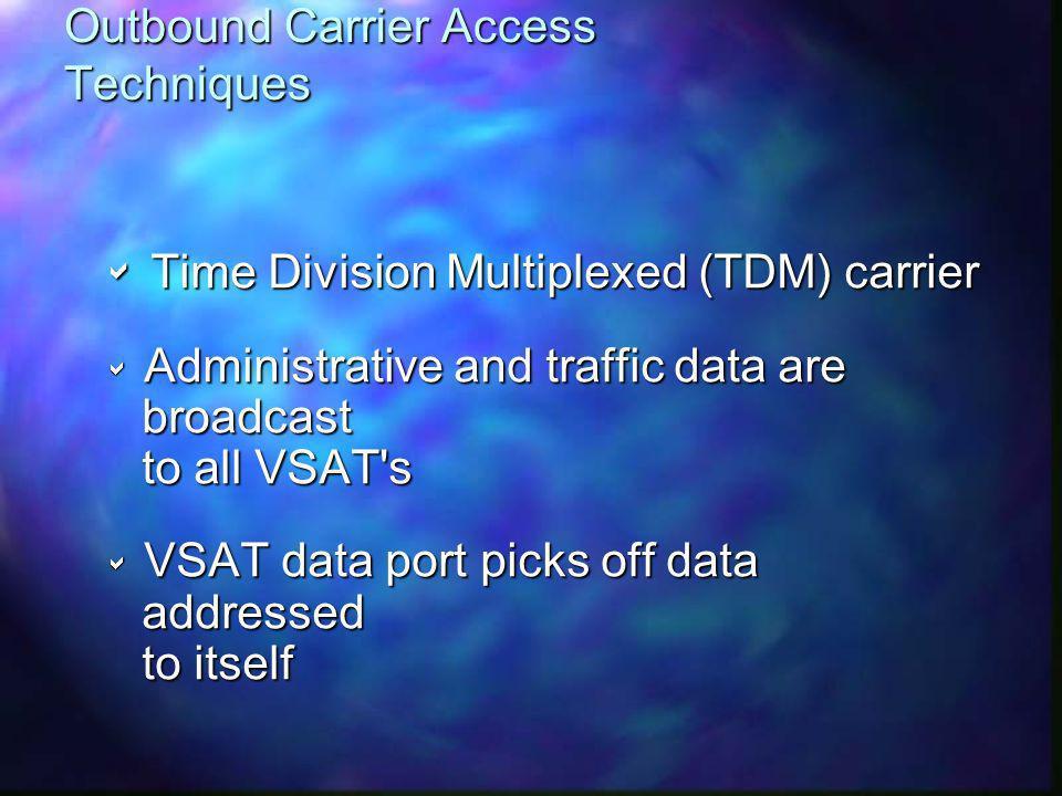 Outbound Carrier Access Techniques