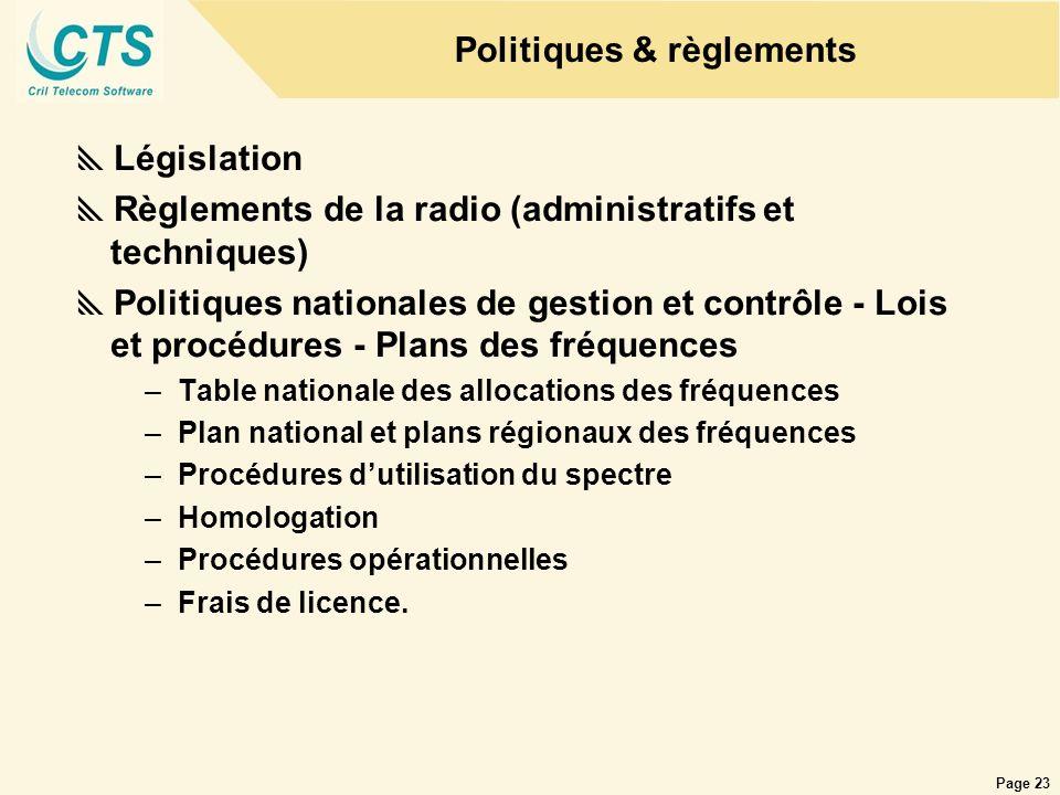 Politiques & règlements