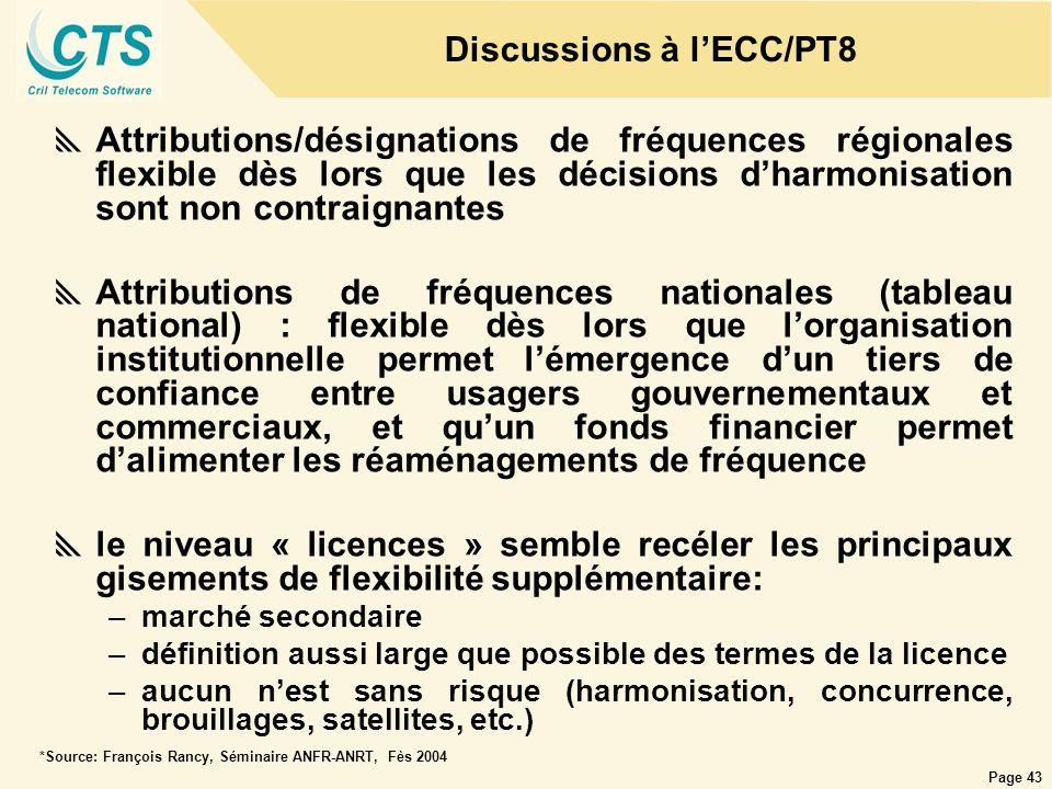 Discussions à l'ECC/PT8