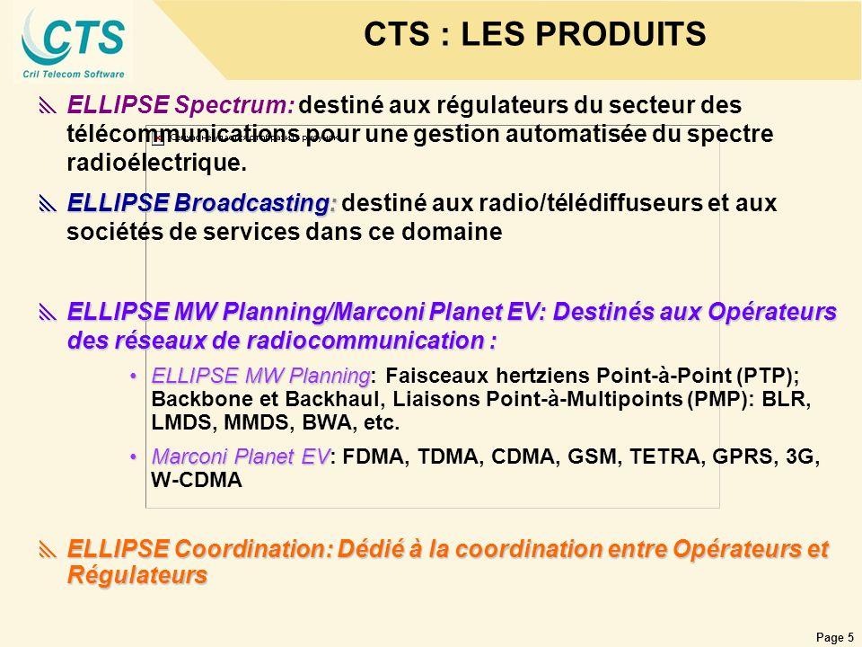 CTS : LES PRODUITS