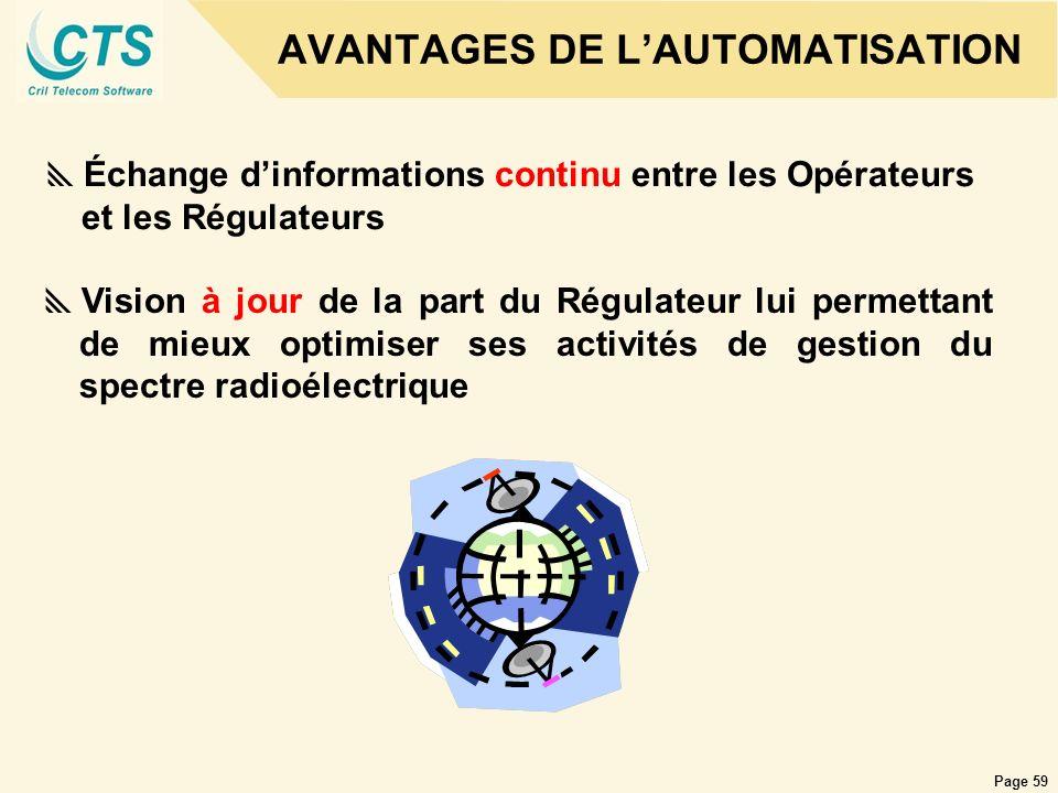 AVANTAGES DE L'AUTOMATISATION