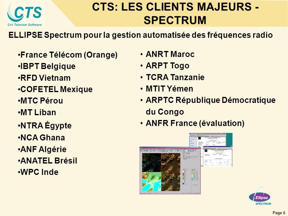 CTS: LES CLIENTS MAJEURS - SPECTRUM