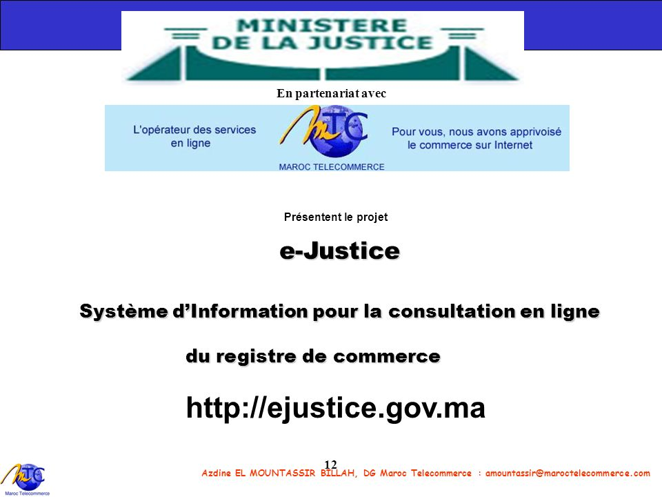 http://ejustice.gov.ma e-Justice