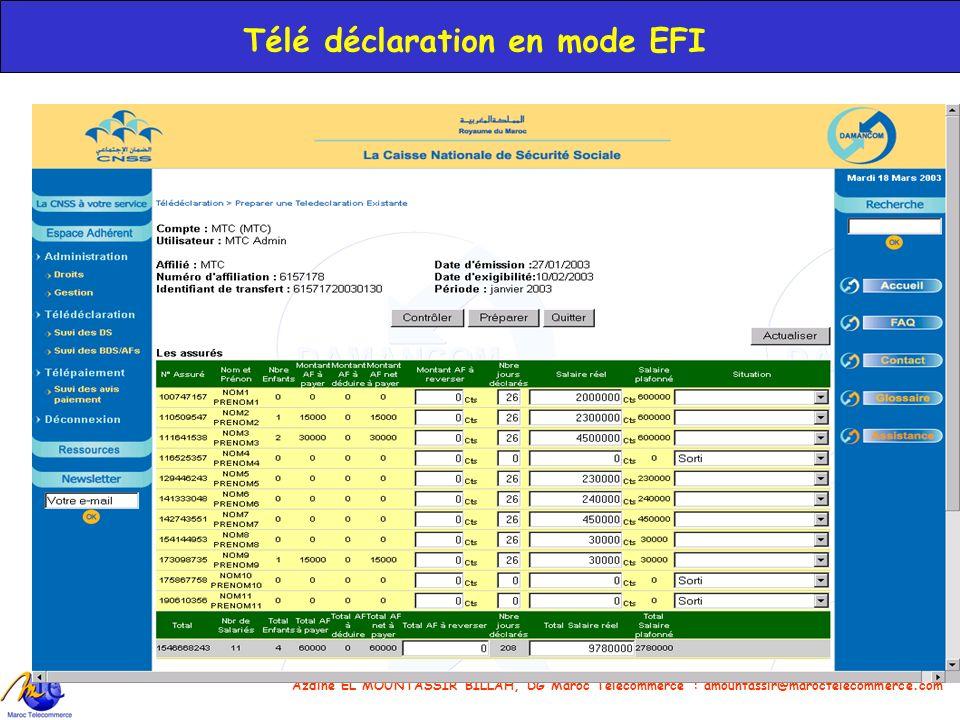 Télé déclaration en mode EFI
