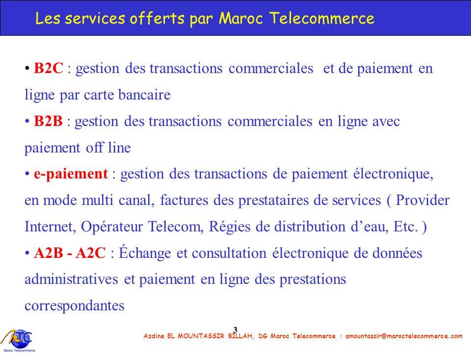 Les services offerts par Maroc Telecommerce