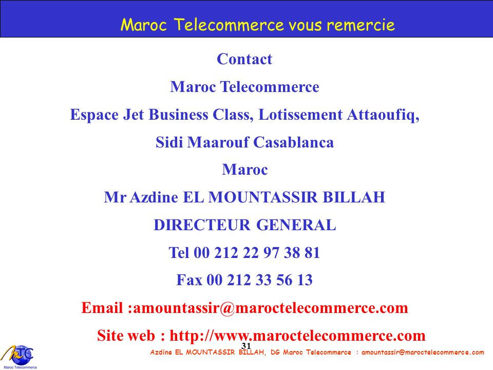 Maroc Telecommerce vous remercie
