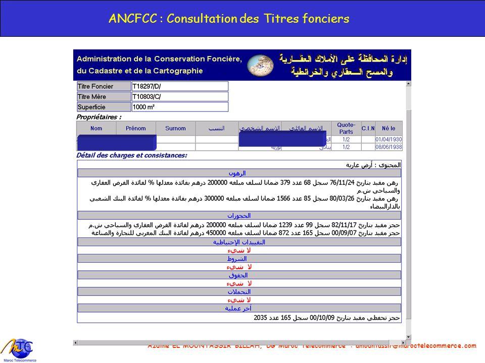 ANCFCC : Consultation des Titres fonciers